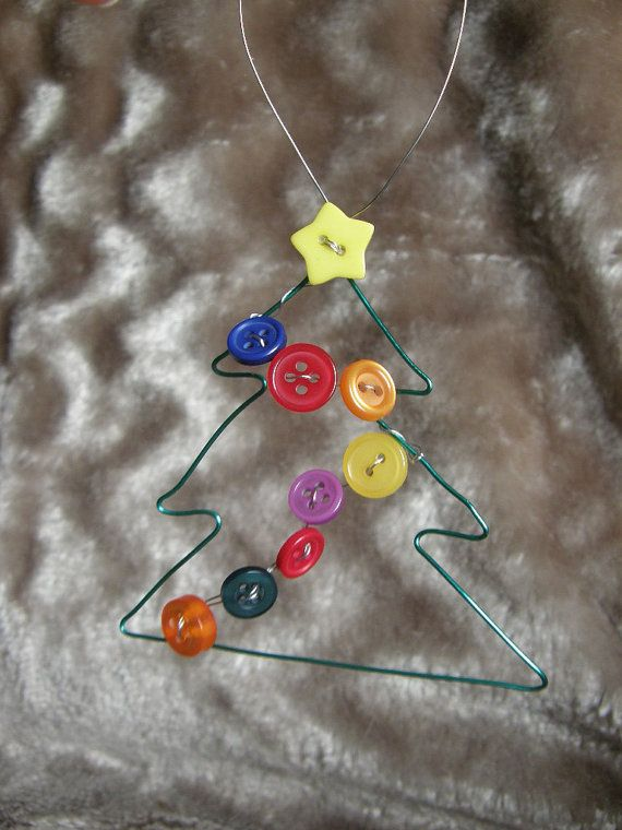 button Christmas tree decoration wire Christmas by ...