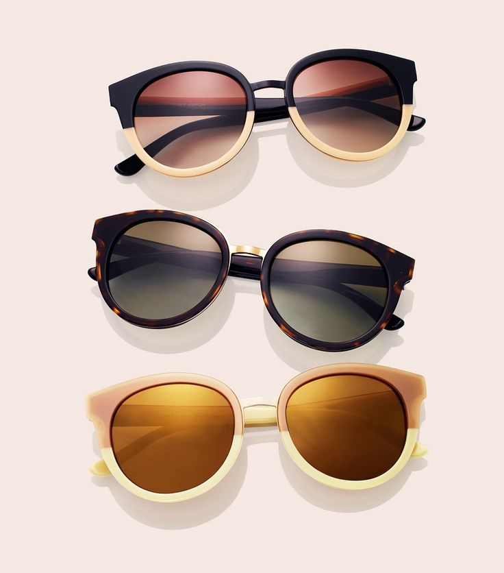 A little retro and a touch tomboy, Tory Burch's  rounded Panama sunglasses easily work a bit of understated glamour into looks.