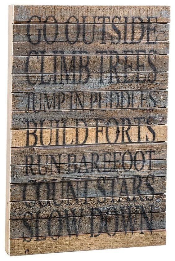 Country themed wooden sign
