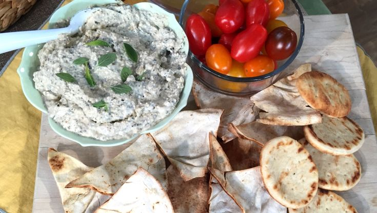 Get a healthy dose of protein with a quick snack of a creamy yogurt dip with veggies.