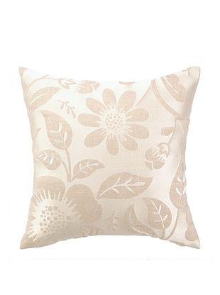53% OFF Peking Handicraft Acadia Pillow, Floral Grey