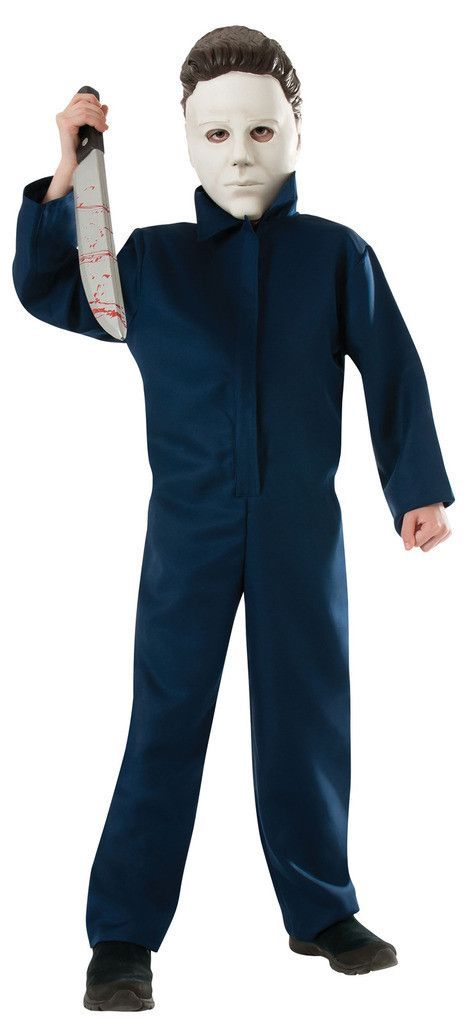 Halloween Michael Myers Child Costume This costume includes jumpsuit & EVA mask. Does not include shoes. This is an officially licensed Michael Myers costume. Weight (lbs) 0.99 Length (inches) 14.5 Wi