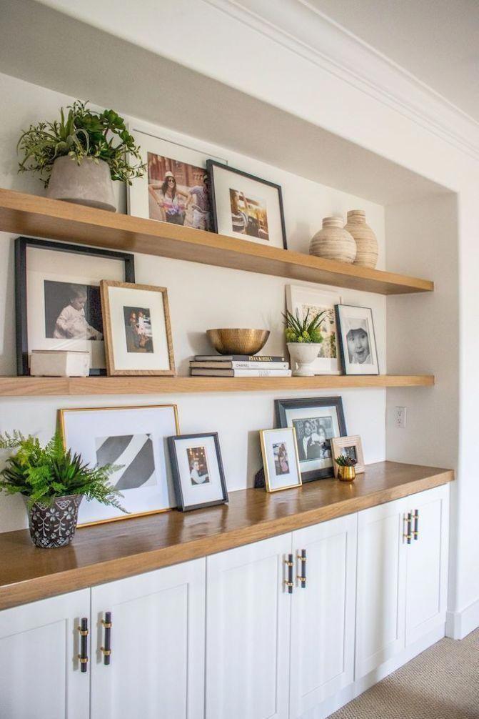 Pin By Vintage Revivals On Home Design Living Room Shelves Home Home Decor Shelf decorating ideas living room
