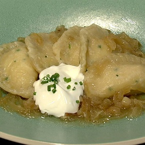Pierogi... delicious little pillows of soft potato wrapped in noodle bathed in caramelize onion... Why doesn't my husband like these!