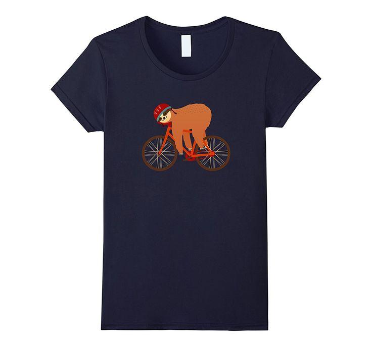 Sloth Sleeping On Bicycle | Cool Cyclist T-Shirt Design