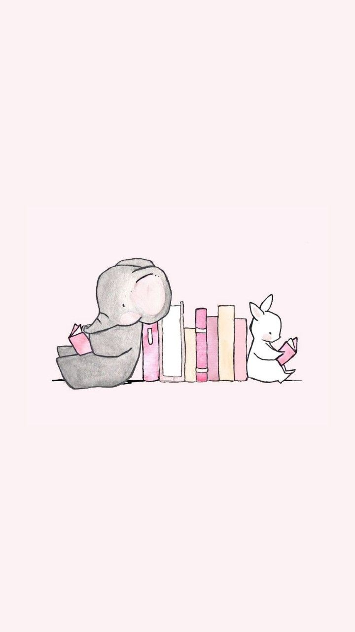 Elephant And Bunny Cute Wallpaper Iphone In 2019 Cute