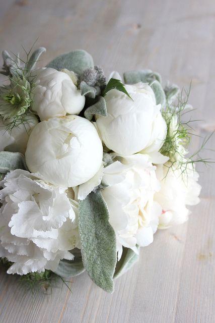Bouquet de mariee bouquet pinterest fleurs blanches for Bouquet fleurs blanches