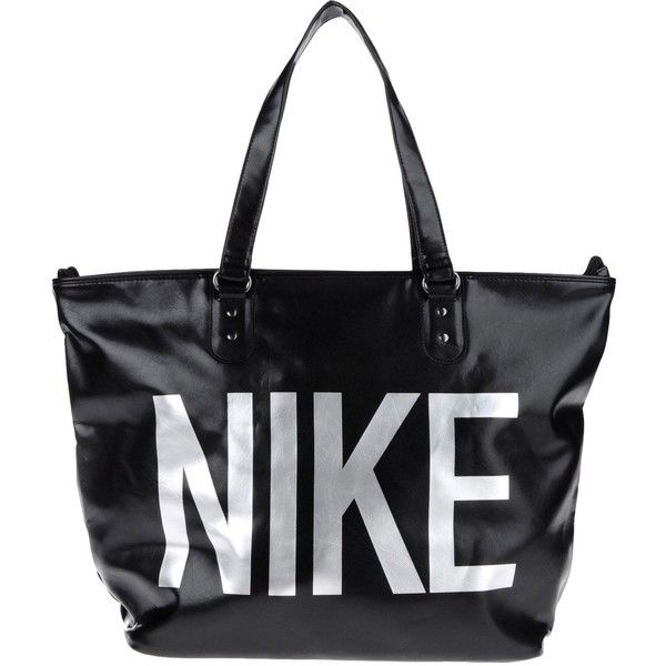 NIKE Shoulder bag ($45) ❤ liked on Polyvore featuring bags, handbags, shoulder bags, accessories, black, nike, shoulder handbags, strap purse, nike purse and shoulder hand bags