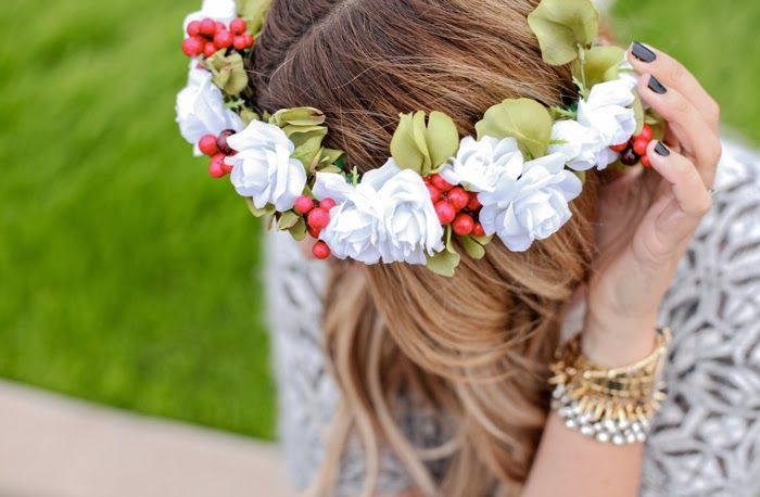 DIY Flower Crown - A Little Dash of Darling