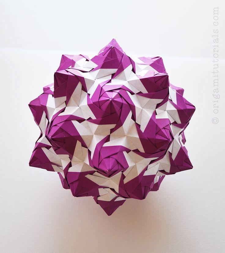 Rose Unit Kusudama   Origami Tutorials