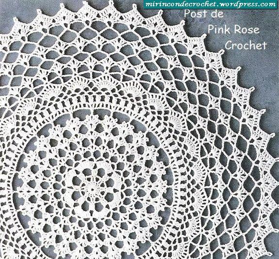 Tapete de ganchillo redondo   -   Round Crochet doily