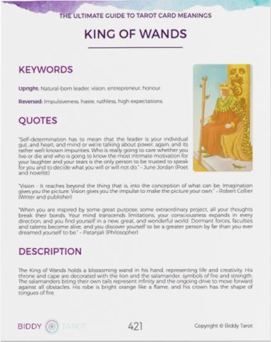 The Ultimate Guide to Tarot Card Meanings | Biddy Tarot