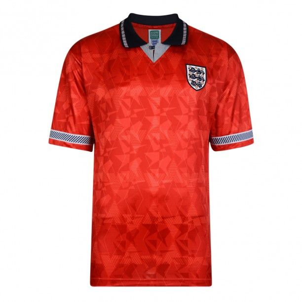 England 1990 World Cup Finals Away Retro Shirt World Cup Final Retro Football Shirts England Football Shirt