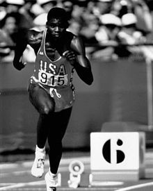 Carl Lewis at the 1984 Olympics
