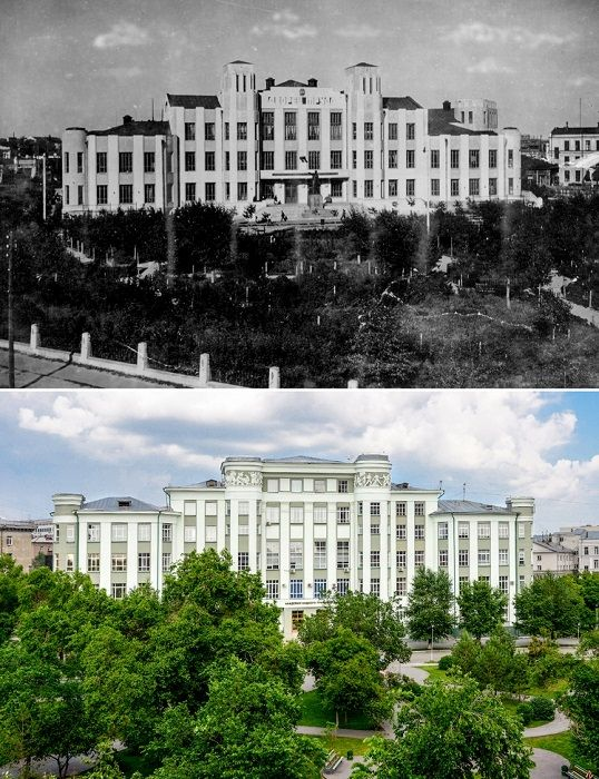 На сегодня в здании размещается Новосибирская государственная академия водного транспорта.