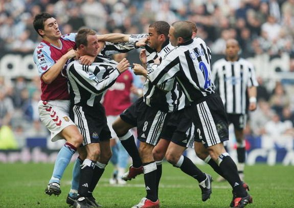 Kieron Dyer lifts lid on infamous on-field brawl with Newcastle teammate Lee Bowyer