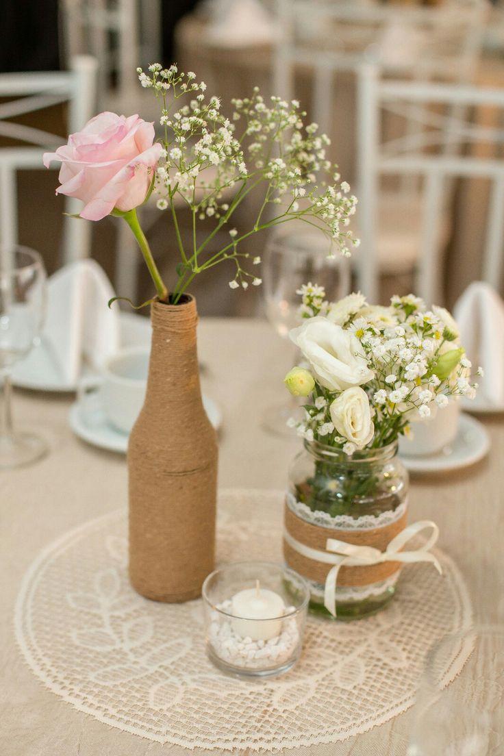 Mais de 1000 ideias sobre centros de casamento r stico no - Centro de mesa rustico ...