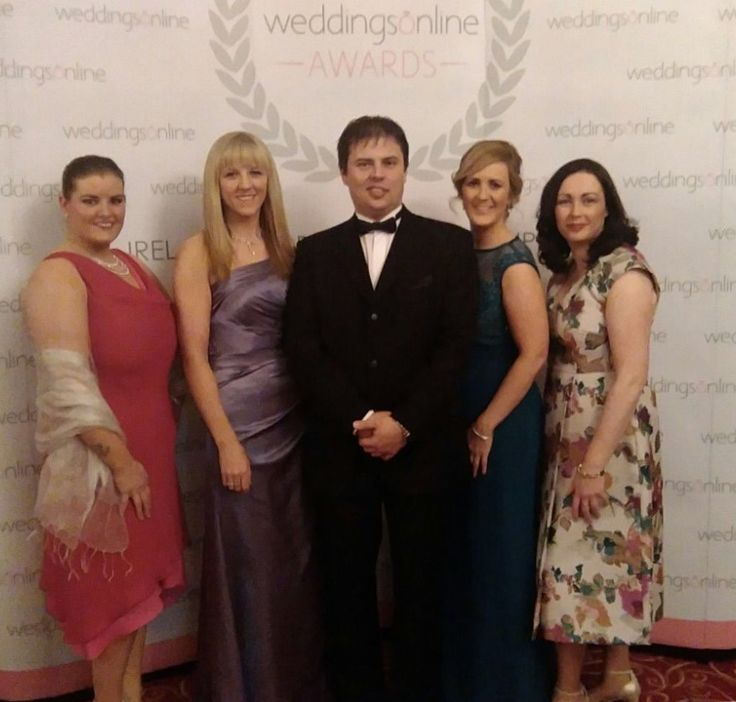 Siobhan Hudson (Banqueting) Mairead Melody (Sales & Marketing Manager) Matus Bolanovsky (Head Chef) Karina Duffy (Wedding & Events Manager) Nora Cafferky (C&B Manager) all of Clayton Hotel Galway celebrating winning the prestigious award of Wedding Hotel Venue of the Year 2016 at the WeddingsOnline Awards.