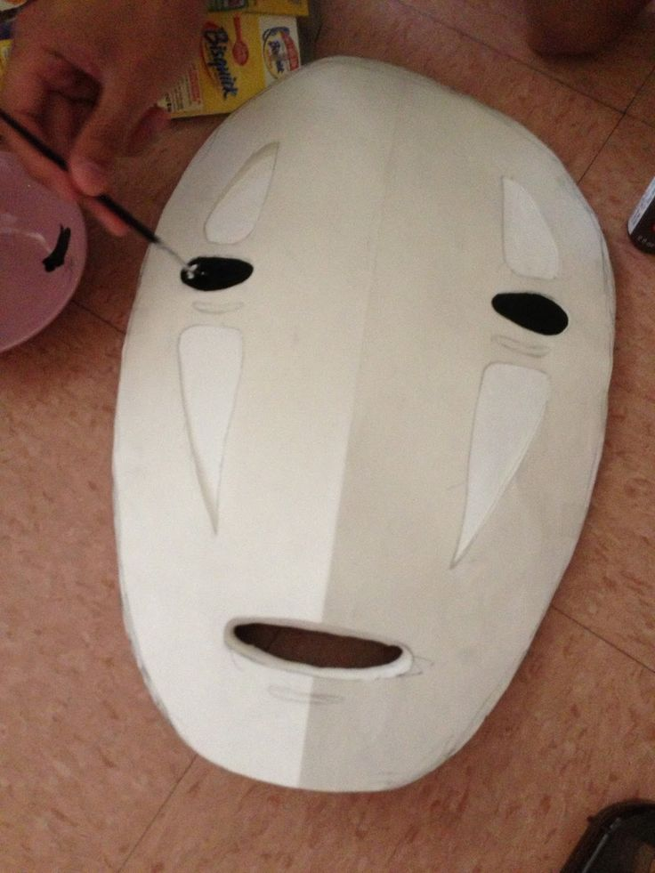 I tried searching for ideas on how to make a No Face mask ...
