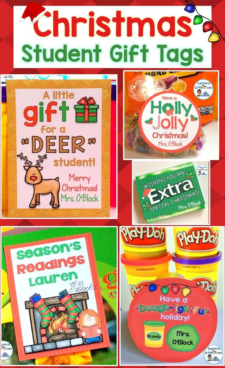 Easily create personalized Christmas gifts for your students with these cute and EDITABLE student gift tags. Simply print and attach to trinkets such as play dough, books, crayons, Jolly Ranchers, glow sticks, etc.  Includes 12 different Christmas designs so you can use them for multiple classes or from year to year.