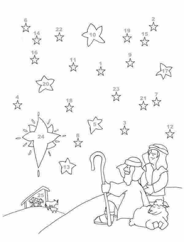 Advent Printable - Christian Christmas Coloring Pages