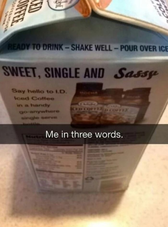Me in three words... well not the single part anymore