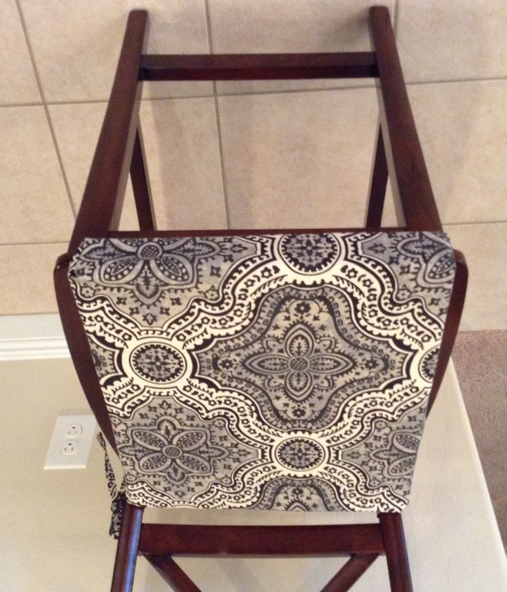 Rustic Print Seat Cushion Cover, Kitchen Chair Pad, Neutral Beiges W Black  Traditional Print