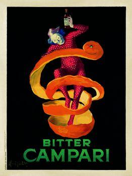 A vintage liquor advertisement by Leonetto Cappiello for Bitter Campari.