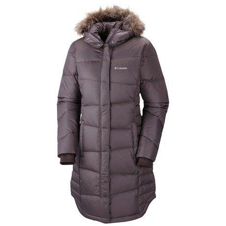 For Alaska.. Columbia Sportswear Madraune Long Down Omni-Heat® Jacket (For Women) in Purple Sage