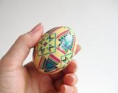 View Chicken Egg Pysanky by UkrainianEasterEggs on Etsy