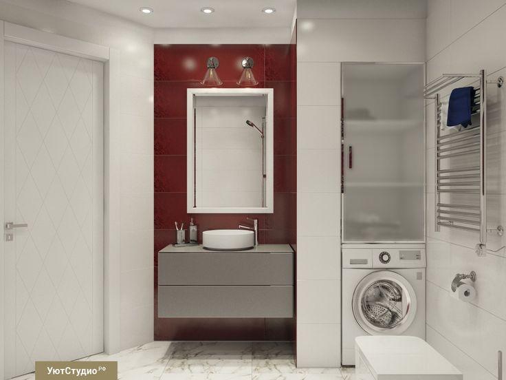 Замечательным решением для ванной комнаты будет встроить стиральную машинку в нишу◻️◻️ Для ниши необходимо закладывать ширину 60 см, так как стандартная ширина стиральной машинки 54-58 см. И не забудьте сверху «завершить» нишу стенкой❗️☝️Также, в этом проекте справа от мойки «прорезаны» дополнительные ниши для удобства хранения ванных принадлежностей#СОВЕТЫ_УЮТ  #дизайнинтерьера #интерьердома #мечтаю #дизайнпроектквартиры #ардеко #дизайнерыспб #дизайнпроектдома #кухняспб…