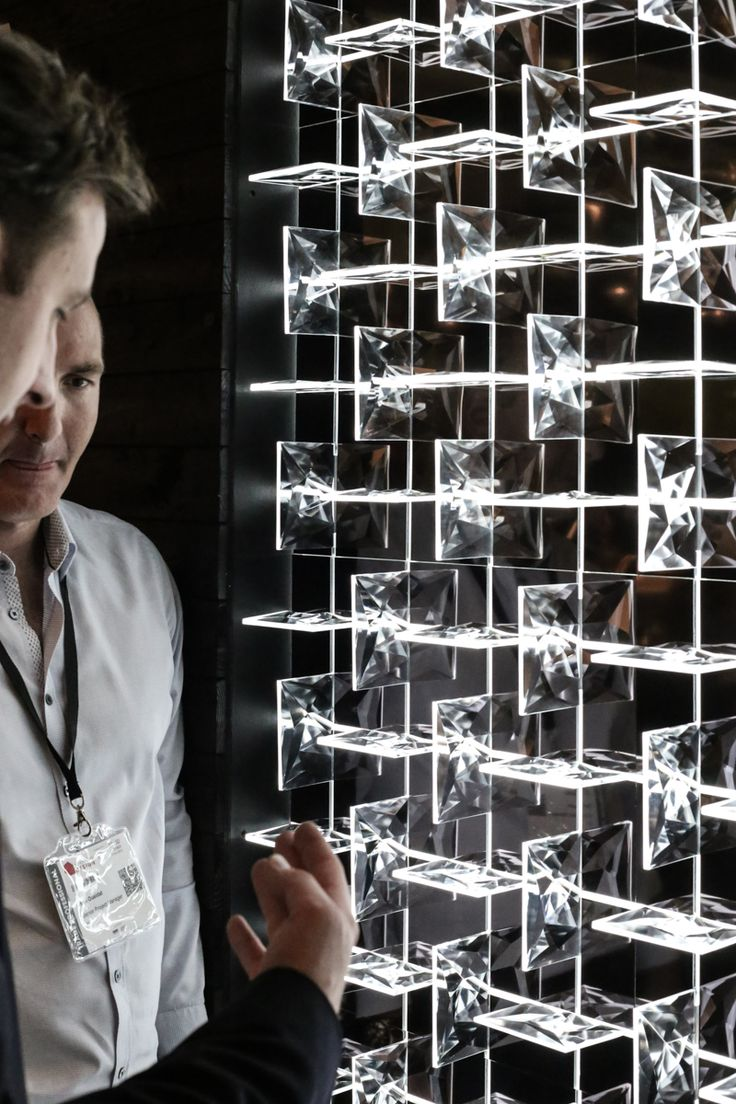 Highlights from Downtown Design Dubai 2015: it seems like everyone wants to immerse into StarDust - elaborately cut stones that reflect light in unprecedented style. #light #lighting #design #hospitality #interior #hotel #crystal #bohemian #glass #craftsmanship #innovation