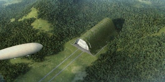 UP LIFT zeppelin hangar by OPEN Architecture.