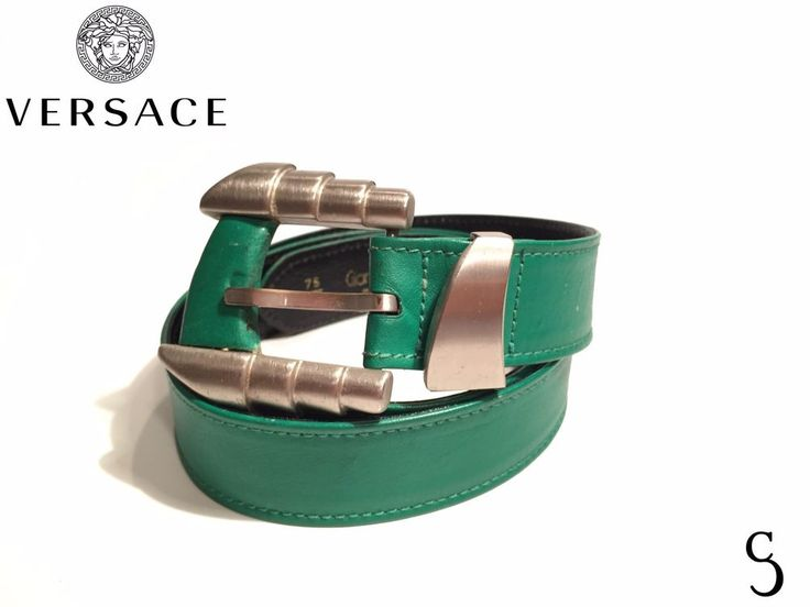 Gianni Versace Authentic Women Green Belt _ Size S #GianniVersace #Vintage