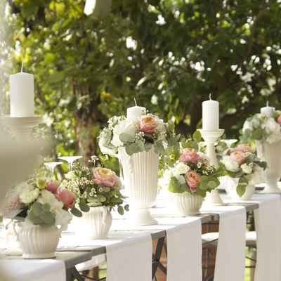 White wedding ceremony decor by Mydolcefarniente. Weddings and Events in Italy