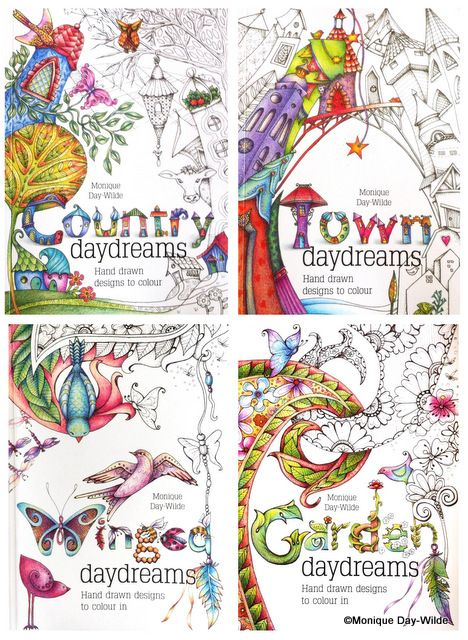 Colouring books by Monique Day-Wilde