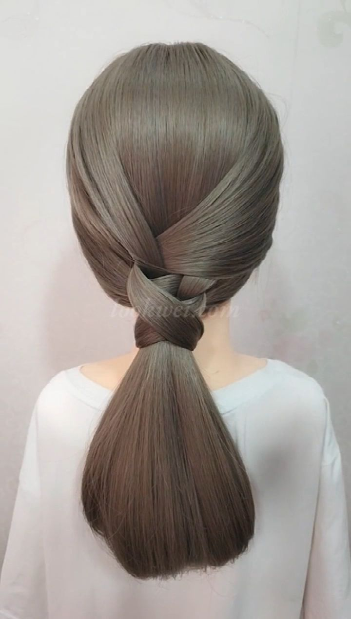 Learn this low ponytail hairstyle in 3 minutes