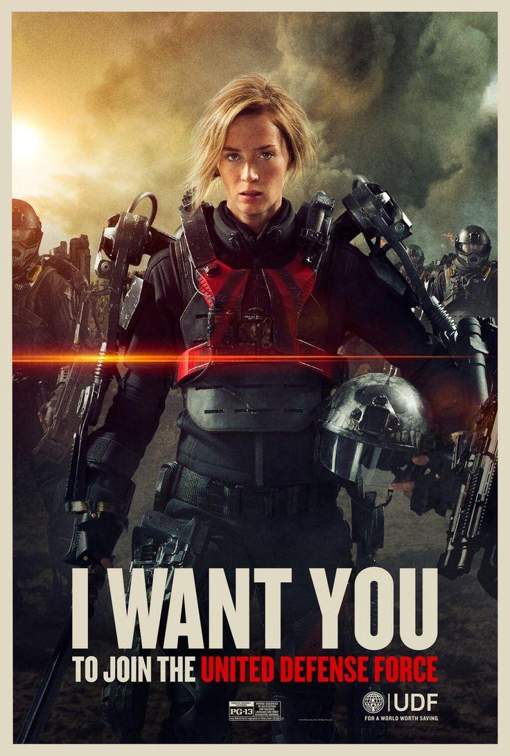Edge of Tomorrow - Emily Blunt as Rita Vrataski. I want this as a movie poster.