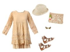 Beige lace dress by lydiedy