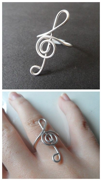 DIY Wire Clef Ring from My Virtuous Hands here. There isnt much of tutorial but there are a few photos to guide you. I translated this blog from Spanish to English using Chrome. I have posted pages of DIY wire jewelry here.