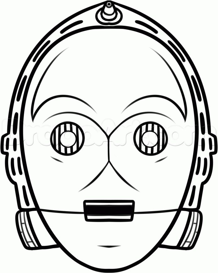 how to draw c-3po easy step 8
