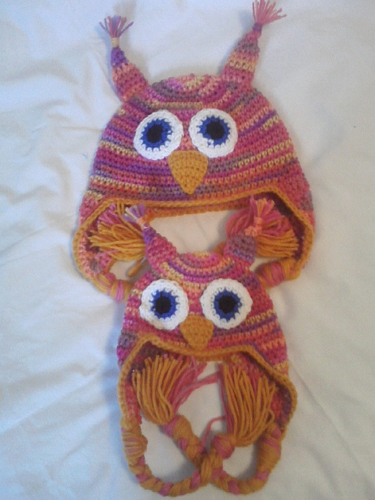 multi color owl set, little girls and dolls (fits American Girl doll )   price : $25.00
