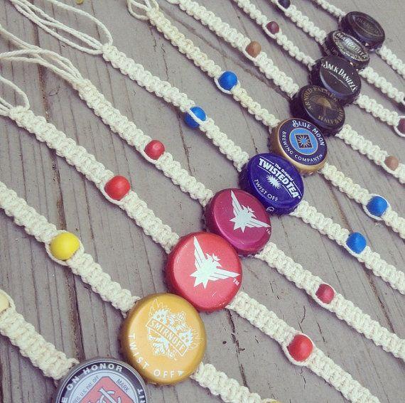 Recycled Bottle Cap Bracelets by NillBeanAccessories on Etsy