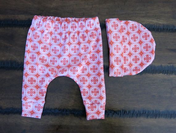 Organic baby clothes /Jersey Knit Harem Pants / Baby band
