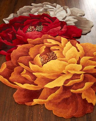 """""""Bria"""" Floral Rugs at Horchow."""