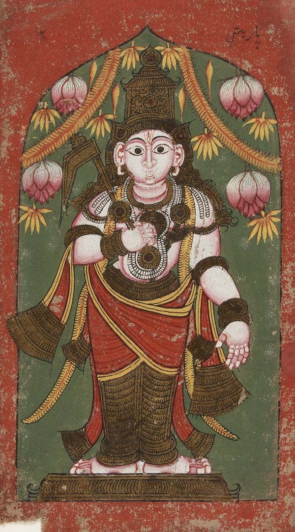 arjuna-vallabha:  Sri Balarama. south indian painting