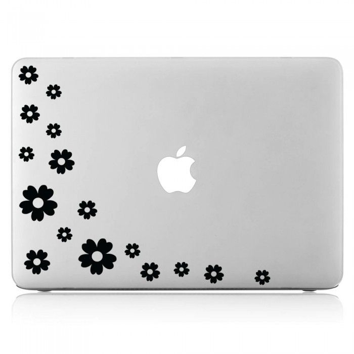Flower laptop macbook vinyl decal sticker dm 0019
