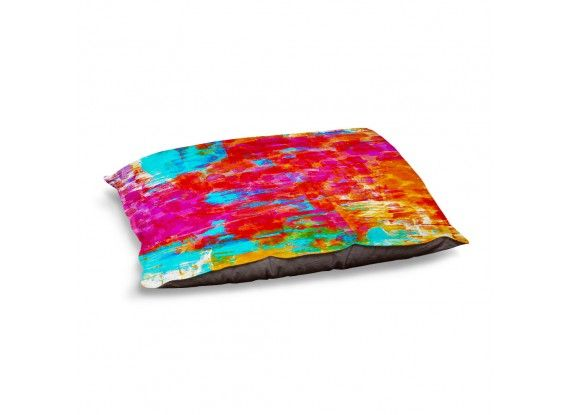 Ebi Emporium Dog and Pet Beds Artistic Decorative Designer Unique | Julia Di Sano's Abstract Jungle V, Fine Art Colorful Warm and Cozy #dogbed #petbed #pets #giftfordog #decor #JuliaDiSano #DianocheDesigns #colorful #rainbow #red #hotpink #pink #magenta #turquoise #orange #dreaming #brushstrokes #intense #vibrant #neon #abstract #art #fineart #painting #whimsical #decorative #modern #doglove #giftforpet