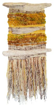 Arte Textil Marianne Werkmeister :: looks like driftwood incorporated into the design ; wonderful