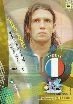 2002 Panini World Cup #58 Vincent Candela  Back